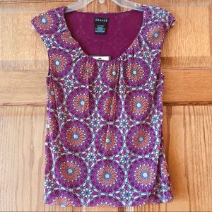 5/$15 NWT George Kaleidoscope Patterned Top XS